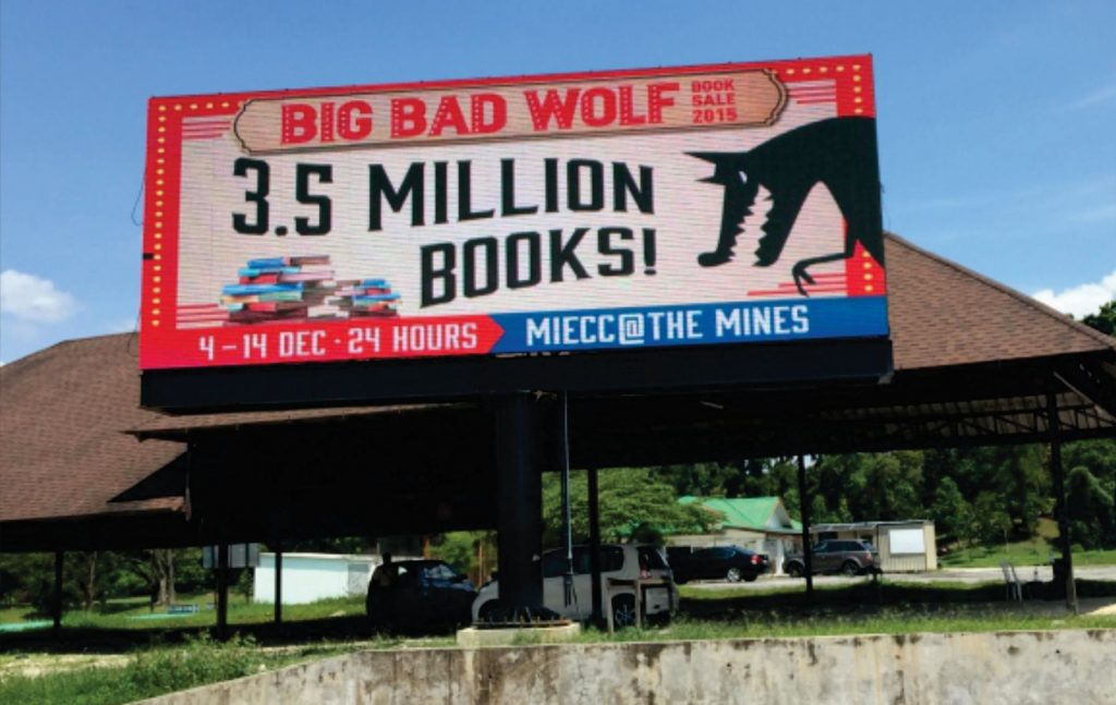 LED Supplier for Big Bad Wolf Book Sale 2015