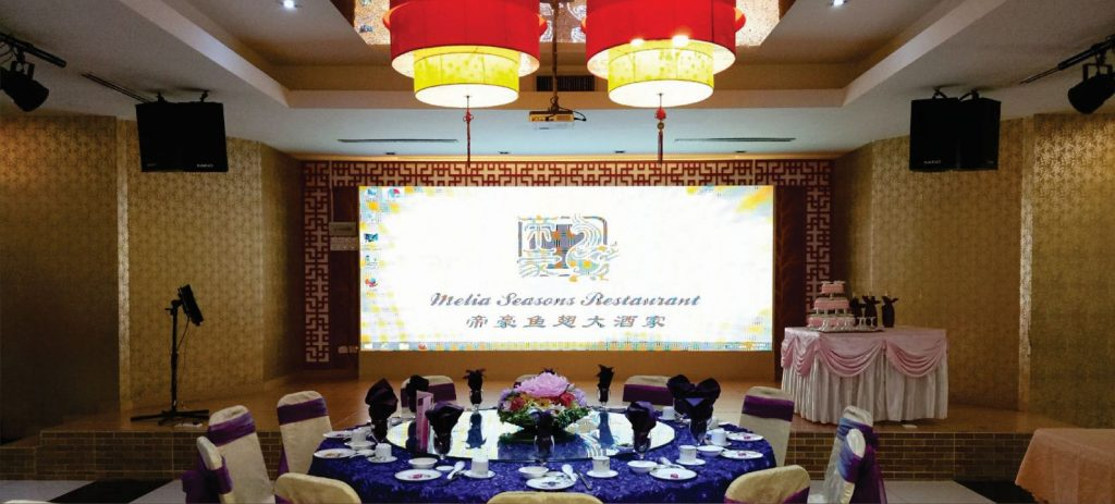 Indoor LED Display Supplier for Melia Season's Restaurant