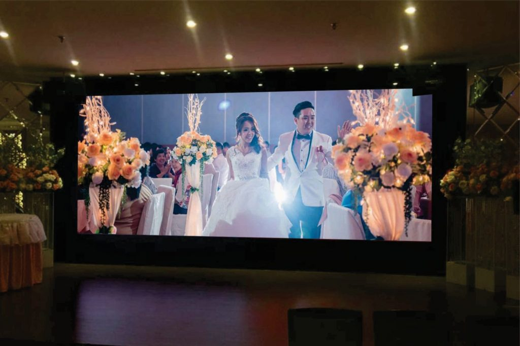 Indoor LED Display Supplier for Wedding Dinners in Malaysia