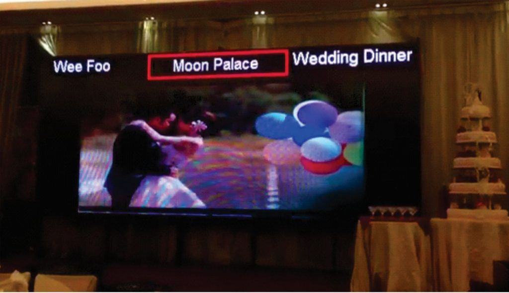Indoor LED Display Supplier for Moon Palace Wedding Event