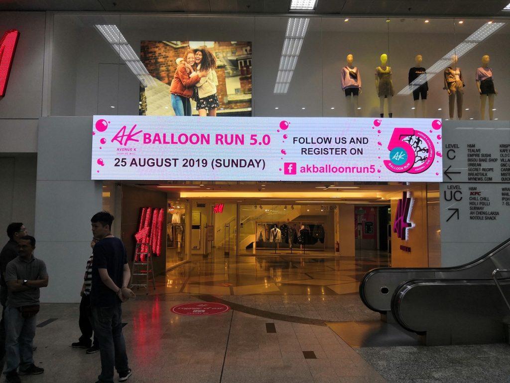 LED Supplier for AK Balloon Run 5.0 2019